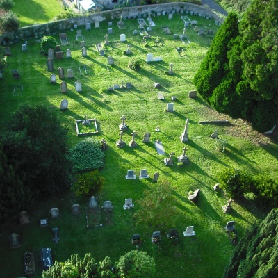2016 09 14  View From Tower Down To Churchyard West