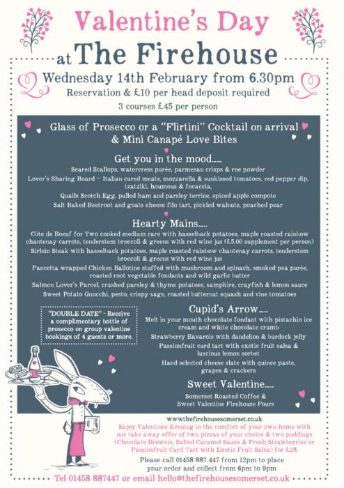 Curry Rivel Firehouse New Early Birds Menu Valentines