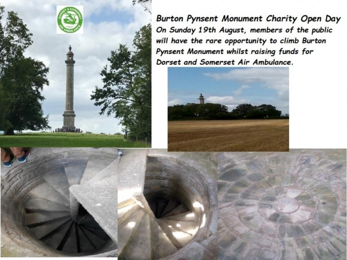 Buron Pynsent Monument Dorset Air Ambulance1