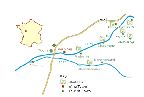 Chateaux map