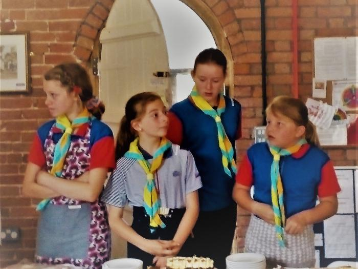 Church Fete Guides Serving Teas OSR