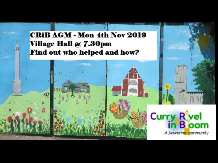 CRiB AGM 4th Nov 2019