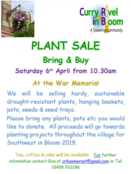 CRiB Plant Sale April