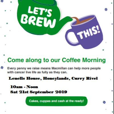 Davage MacMillan Coffee Morning