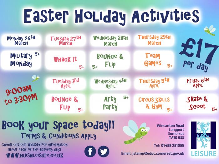 Easter Holiday Activities 2018