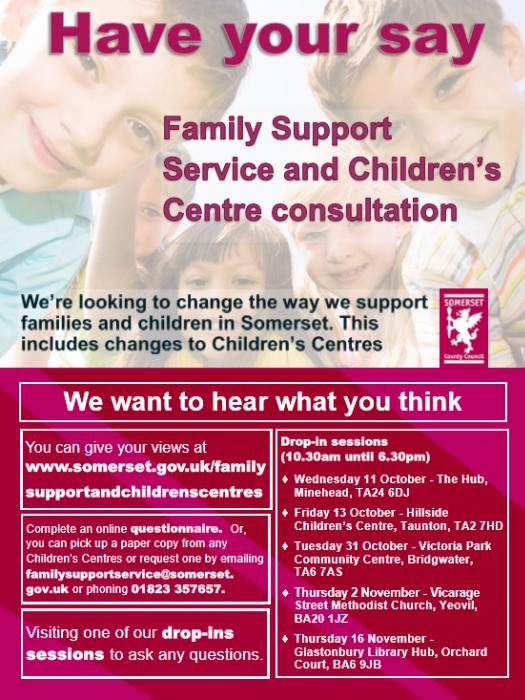Family Support and Children Consultation Poster