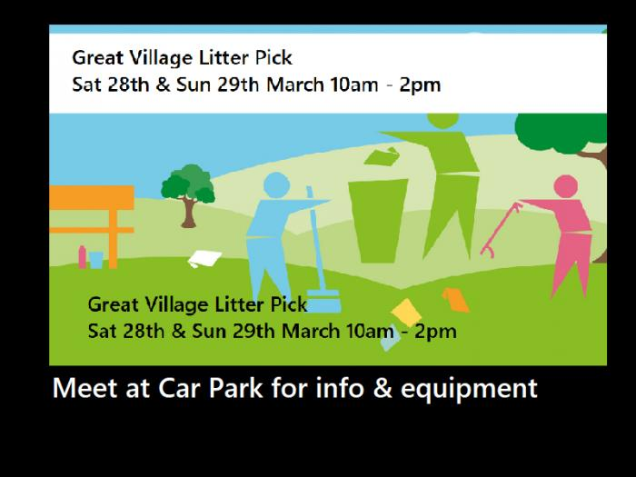Great Village Litter Pick March 2020 screen