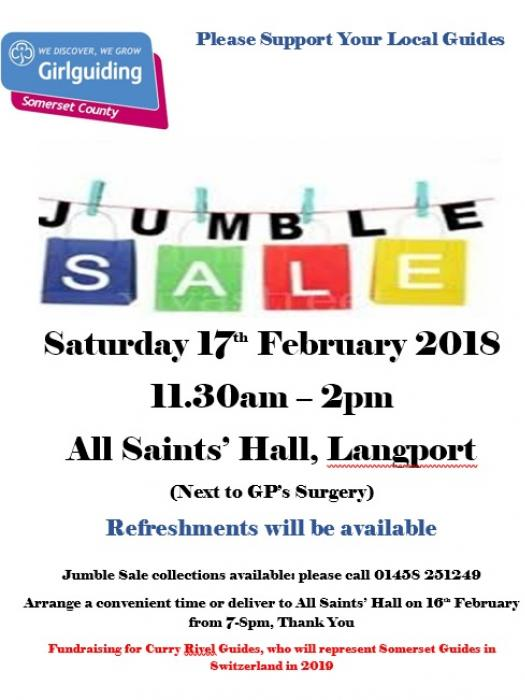 Guides Jumble 17th Feb 2018