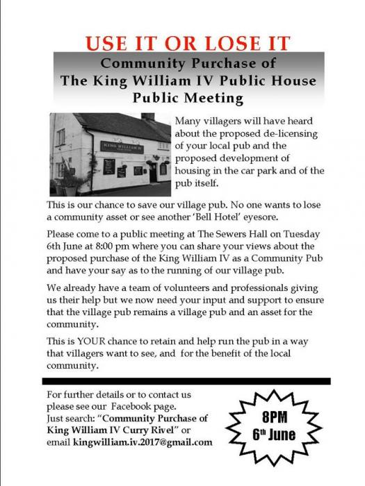 King William IV Pub Use It or Lose it