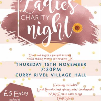 Ladies Charity Night 15th Nov 2018