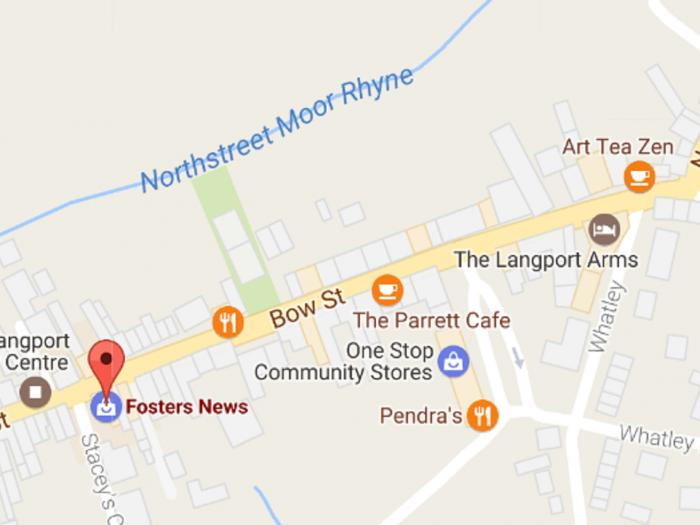 Langport Bow Sr Map