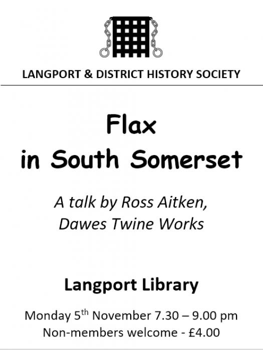 Langport History Soc Nov 2018 Talk