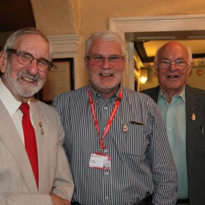 Langport Red Cross From The Left Chris Cox  Centre Organiser Chris Davies  Somerset President  Philip Rowe  Somerset Patron