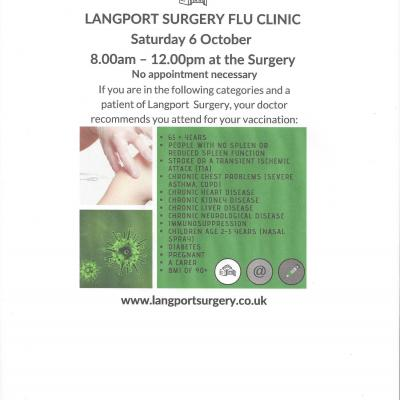 Langport Surgery Flu Clinic 180910