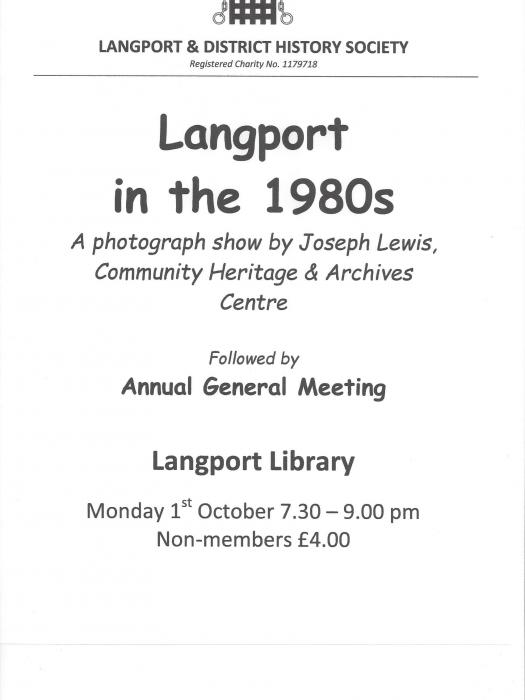 L&DHS-Langport in the 1980s