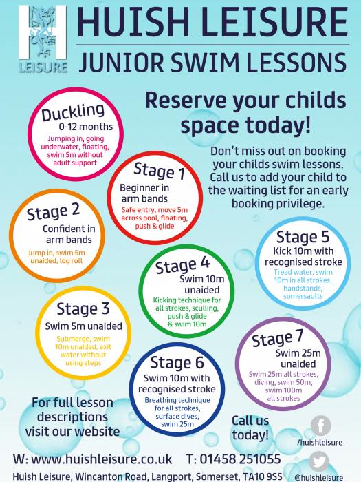Leveller Junior Swim Lessons