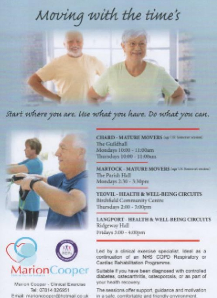 Marion Cooper exercise classes 2018