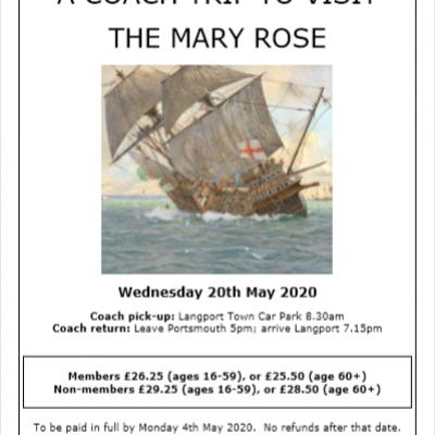 Mary Rose Langport Hist Soc Visit May 2020