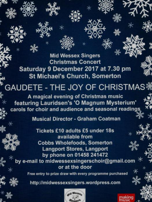 Mid Wessex Xmas Concert 9th Dec 2017