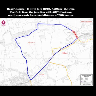 Portway Closure 11th to 13th Dec 2019