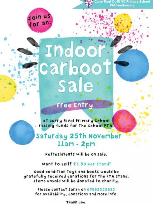PTA Carboot Sale 25th Nov 2017