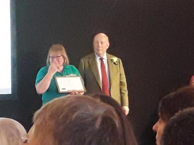 RHS SW in Bloom Awards 11th Oct 2019 10 Receiving Zac Powell Award