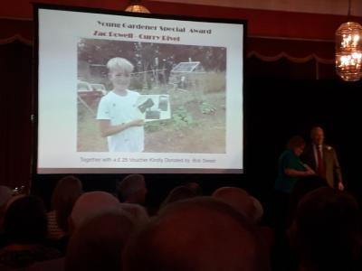RHS SW in Bloom Awards 11th Oct 2019 11 Receiving Zac Powell Award
