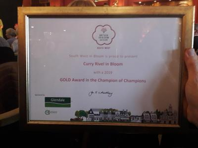 RHS SW in Bloom Awards 11th Oct 2019 12 Gold Certificate