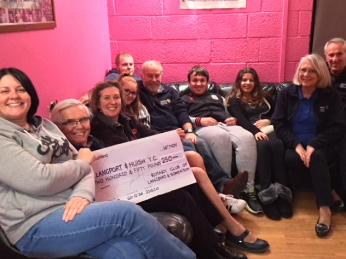 Rotary help Langport & Huish Youth Club