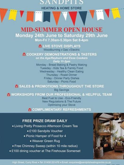 Sandpits Mid Summer Open Housejune 2019