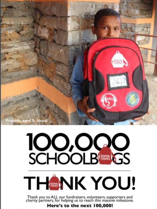 School in the Bag 100000th