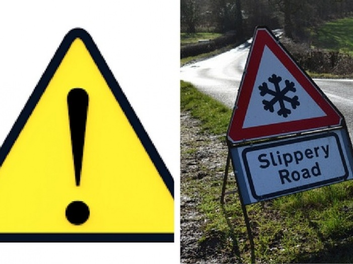 Slippery roads