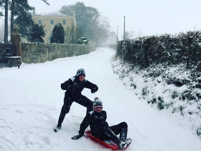Snow in Curry Rivel 1st March 2018 3 (Heal Lane)