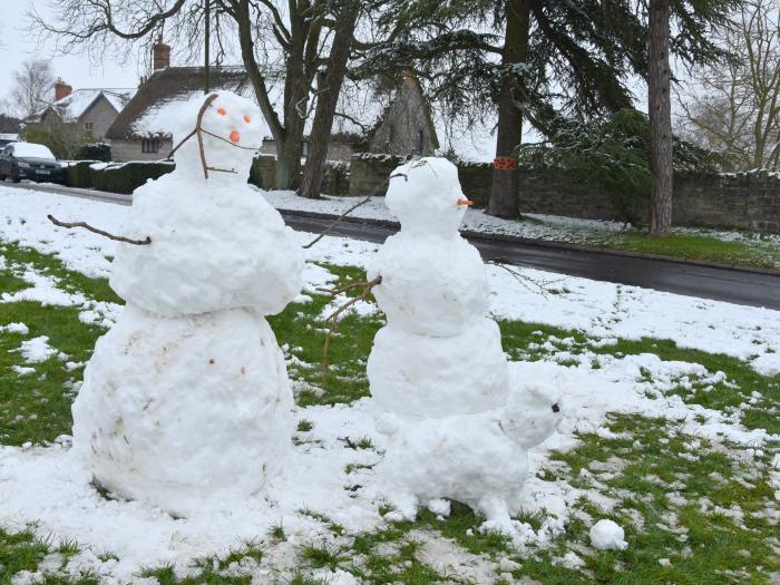 Snowmen on Church Green 1st Feb 2019