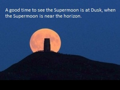 Supermoon best time to see