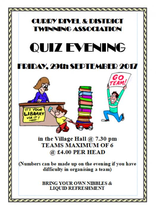 Twinning Quiz Poster 29th Sept 2017