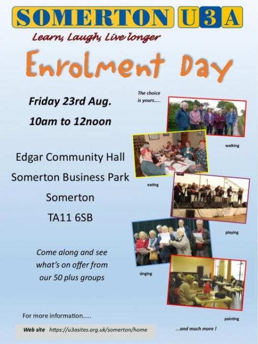 U3A Enrolment Day